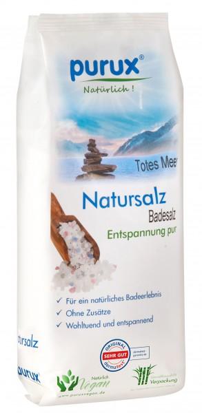 Totes Meer Badesalz naturweiß (nachhaltige Verpackung aus Zuckerrohr) 1000 g